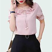 blusa de mujer - cuello redondo de color sólido