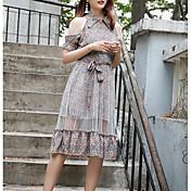 Mujer Elegante Vaina Vestido Midi