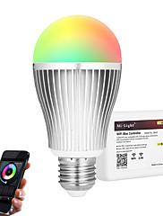 9W Smart LED-lampe A60(A19) 20 SMD 5730 900 lm RGB + Hvid Infrarød sensor Dæmpbar Fjernstyret WIFI APP kontrol LysstyringVekselstrøm