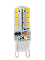 3W LED-lamper med G-sokkel T 32 SMD 2835 240-270 lm Varm hvid Hvid Dekorativ V 1 stk. G9