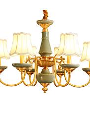 Alt kobber lysekrone jade dekorativliv værelse lysekrone 6a