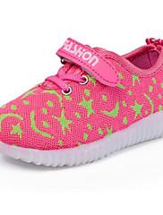 Para Meninas sapatos Tule Outono Inverno Conforto Tênis Para Casual Preto Pêssego Azul