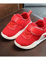 Para Meninas sapatos Malha Respirável Outono Inverno Conforto Tênis Para Casual Preto Vermelho