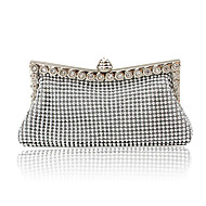 Women Bags Satin Evening Bag Crystal/ Rhinestone for Event/Party All Seasons Gold Black Silver