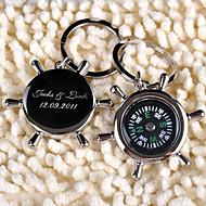 Stainless Steel Privjesak favorizira-6 Komad / set Keychains Vrt Tema Personalized Crn / Silver