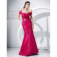 Sereia / trompete fora do ombro vestido de festa de tafetá com cristal de ts couture®