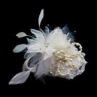 Krystal / Fjer / Stof Tiaras / fascinators / Blomster med 1 Bryllup / Speciel Lejlighed / Fest / aften Medaljon