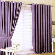 billige Gardiner-To paneler Window Treatment Moderne , Solid Polyester Materiale gardiner gardiner Hjem Dekor For Vindu
