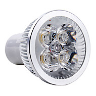 4w gu10 led spotlight mr16 4 høy effekt led 350-400lm varm hvit 3000k ac 85-265v