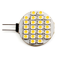billige Bi-pin lamper med LED-2700lm G4 LED-spotpærer 24 LED perler SMD 3528 Varm hvit 12V