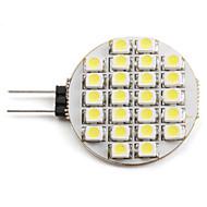 billige Spotlys med LED-2 W 6000 lm G4 LED-spotpærer 24 LED perler SMD 3528 Naturlig hvit 12 V
