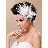 Tule Fascinadores / Decoração de Cabelo com Floral 1pç Casamento / Ocasião Especial Capacete