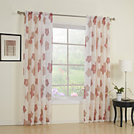billige Forede Gardiner-Stanglomme Propp Topp Fane Top Dobbelt Plissert To paneler Window Treatment Land , Trykk Soverom Polyester Materiale Gardiner Skygge Hjem