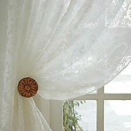 To paneler Window Treatment Rustikk Spisestue Polyester Materiale Gardiner Skygge Hjem Dekor For Vindu