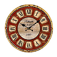 cheap Rustic Wall Clocks-Modern/Contemporary Wood Plastic Others Indoor/Outdoor,AA