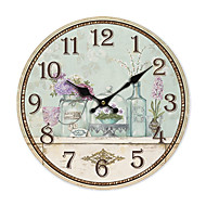 cheap -Country Floral Wall Clock