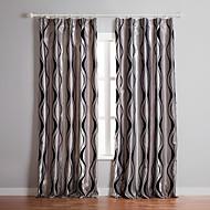 billige Gardiner-anti ™ (to paneler) sølv kurve flokker rom darkening gardin