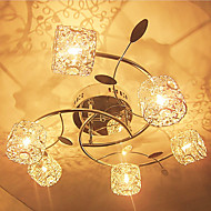 billige Taklamper-6-Light Takplafond Nedlys - Krystall, 110-120V / 220-240V Pære Inkludert / G4 / 20-30㎡