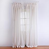 billige Gardiner ogdraperinger-ett par klassiske elfenben solid ren gardin