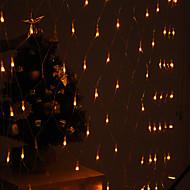 festivaali koristelu 120-johtoiseen 8 moodin keltainen valo net lamput osapuoli puutarha-aita (220v)