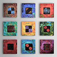 cheap Oil Paintings-Hand-Painted Abstract Square, Modern Traditional Oil Painting Home Decoration More than Five Panels