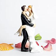 Χαμηλού Κόστους Αξεσουάρ για πάρτι-Διακοσμητικό Τούρτας Δεν Εξατομικεύεται Κλασσικό ζευγάρι Ρητίνη Γάμος / Πάρτι πριν το Γάμο Λευκό / Μαύρο Θέμα Κήπος / Κλασσικό ΘέμαΚουτί