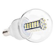 お買い得  LEDボール型電球-6000lm E14 LEDボール型電球 G60 120 LEDビーズ SMD 3528 ナチュラルホワイト 110-130V 220-240V