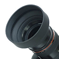 Lens Hood 52 milímetros de borracha para grande angular, Standard, Lente