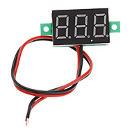 "V20D 0,56 ""LED Twee Lijn 3-Digital Direct-Current Voltmeter Meter Module (wit + groen, DC 2,5 ~ 30V)"