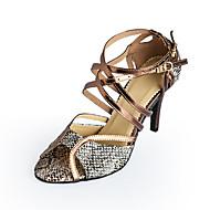 Γυναικεία Παπούτσια χορού λάτιν / Αίθουσα χορού Δερματίνη Τακούνια Αγκράφα Τακούνι Στιλέτο Εξατομικευμένο Παπούτσια Χορού Μπρονζέ