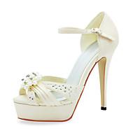 模造真珠の結婚式の靴とファッションサテンスティレットヒールサンダル(その他の色)