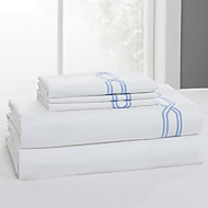 cheap Sheet Sets & Pillowcases-Comfortable Cotton Fitted Sheet Sateen Geometric Embroidery 300 TC