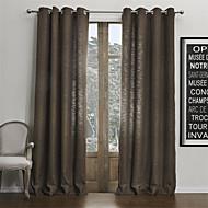 お買い得  カーテン&ドレープ-2パネル ウィンドウトリートメント 現代風 , 純色 リビングルーム フェイクリネン 材料 カーテンドレープ ホームデコレーション For 窓