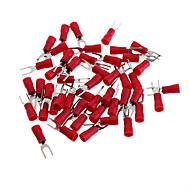 réz sodronyok villa csatlakozó csatlakozó - piros + ezüst (3 mm / 50 db csomag)
