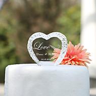 Figure za torte Vrt Tema Hearts Par Classic Kristal Vjenčanje godišnjica Djevojačka večer s Poklon kutija
