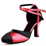 Χαμηλού Κόστους Παπούτσια χορού-Γυναικεία Μοντέρνα Τακούνια Αγκράφα Προσαρμοσμένο τακούνι Μαύρο/Κόκκινο Εξατομικευμένο
