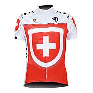 Kooplus Homens Manga Curta Camisa para Ciclismo - Vermelho Moto Camisa/Roupas Para Esporte, Respirável