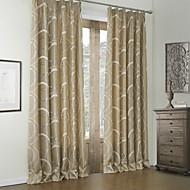 billige Gardiner ogdraperinger-rococo roms kurve brun to paneler panelgardiner gardiner