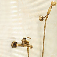 cheap Antique Brass Series-Shower Faucet - Handshower Included Antique Brass Tub And Shower Two Holes Single Handle Two Holes