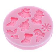 billige -Bakeware verktøy Silikon Økovennlig / 3D / Jul Kake / Til Småkake / Pai Tekneserie Formet Bakeform 1pc