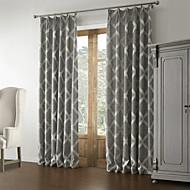 Rococo două panouri geometrice dormitoare gri perdele panou lenjerie draperii