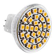 billige Spotlys med LED-SENCART 3500lm GU4(MR11) LED-spotpærer MR11 30 LED perler SMD 3528 Varm hvit 12V