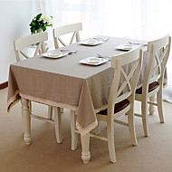 cheap Table Linens-Beige Linen Rectangular / Square Table Cloths