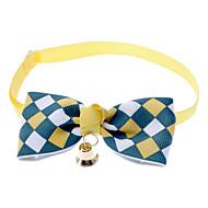 Gato Cachorro Colarinho Gravata Borboleta Boca de Sino Náilon Amarelo Marron Azul Rosa claro