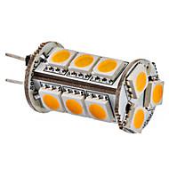 billige Kornpærer med LED-SENCART 1pc 3500 lm G4 LED-kornpærer 15 LED perler SMD 5050 Varm hvit 12 V