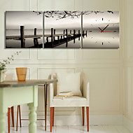 Moderno/Contemporâneo Pastoral Relógio de parede Tela 12*12,16*16,20*20,24*24 Relógio