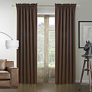 古典的な茶色の固体省エネカーテン(2パネル)