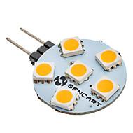 baratos Luzes LED de Dois Pinos-SENCART 1pç 1 W 60-80 lm G4 Luminárias de LED  Duplo-Pin 6 Contas LED SMD 5050 Branco Quente 12 V