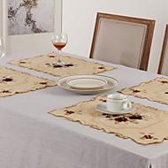 billige Bordduker-rektangulært blomstermønster, polyestermaterialet kaffe te& drinkware