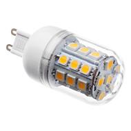 billige Kornpærer med LED-3 W 3000 lm G9 LED-kornpærer T 30 LED perler SMD 5050 Varm hvit 220-240 V